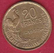 France 20 Francs G. Guiraud - 1952 - SUP - France
