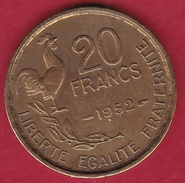 France 20 Francs G. Guiraud - 1952 - France