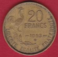 France 20 Francs G. Guiraud - 1953 B - France