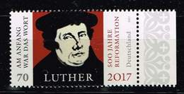Bund 2017, Michel# 3300 ** 500 Jahre Reformation - Martin Luther - Ungebraucht