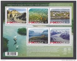 Canada REVISED UNESCO World Heritage Sites Dinosaur Waterton Kluane Wood Buffalo Red Bay Sheet Block MNH 2015 A04s