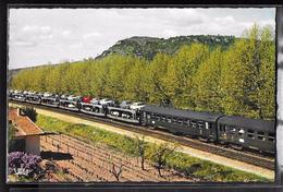 CPSM TRANSPORTS - Train Auto-couchettes - Treinen
