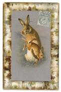 Cpa: FANTAISIE : La Fessée (Lapin, Lièvre Humanisé) 1906 - Animali Abbigliati