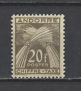 ANDORRE . YT Timbres Taxe 31 Neuf ** 1943-46 (voir Détail)