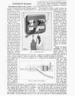 ELECTRICITE PRATIQUE Interupteur Rapide De  M. G. TROUVé / Chaise De Sureté Electrique 1888 - Non Classés