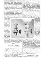"""LA SCIENCE PRATIQUE   """" BRULEUR A GAZ A ALLUMAGE AUTOMATIQUE """"   1888 - Non Classés"""