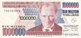 TURQUIE   1,000,000 Turk Lirasi   (2002)   P. 213 - Turkey