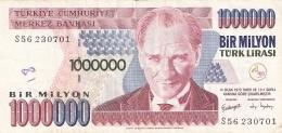 TURQUIE   1,000,000 Turk Lirasi   (2002)   P. 213 - Turquie