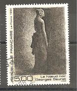 FRANCE  1991 Arts Le Noeud Noir Seurat N°YT 2693 - Usati