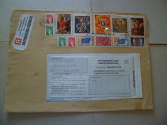 Lettre Rec.R1 Sans AR Nancy 12/03/2007 à Montmeyran N°2101;2102;2104;2157; 3254;3258; 3289;3358; 3482;S N°25;27;33;37;TB - Lettres & Documents