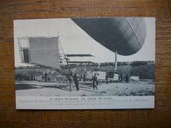 """Réédition ... Ballon Dirigeable """" La Ville De Paris """" Vue Des Deux Doubles Gouvernails Verticaux Et Horizontaux - Airships"""
