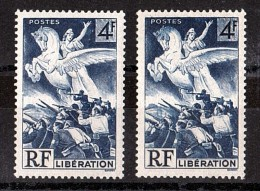 1945 - Surencrage (et Impression Recto Verso Partielle)  - N° 669 Neuf ** - Libération - Variétés Et Curiosités