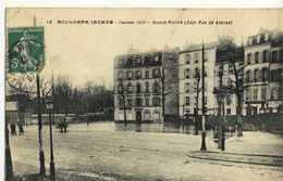 CPA (92)    BOULOGNE BILLANCOURT Inondé 1910 Rond Point  (coin Rue De Sevres)   (b Bur) - Boulogne Billancourt