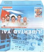 Aerogramma Cuba Aerogramme Cinco 5 Eroi Nazionali Eroes Nacionales - Luchtpost