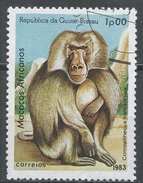 Guinea-Bissau 1983. Scott #457 (U) African Apes And Monkey, Comopithecus Hamadryas, Singe * - Guinée-Bissau