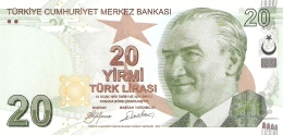 TURQUIE   20 Lira   2009   P. 224   UNC - Turkey