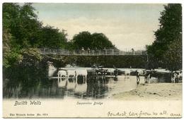 BUILTH WELLS : SUSPENSION BRIDGE - Breconshire