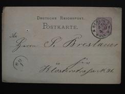 Allemagne - POSTKART Carte Postale Entier Postal Vers 1870-1875 / OBLITERATION à VOIR / Deutsche Reich - Deutschland