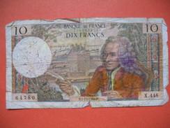 Billet De Banque  De Dix Francs Du 7/11/1968  N° 64780 - X448 - 1962-1997 ''Francs''
