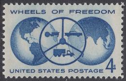 !a! USA Sc# 1162 MNH SINGLE - Wheels Of Freedom - Etats-Unis