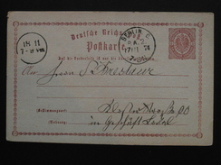 Allemagne - POSTKART Carte Postale Entier Postal Vers 1870-1875 / OBLITERATION à VOIR / Deutsche Reich - Germania