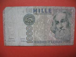 """Billet De Banque  De Mille Lire  N° MD 301814 P """" Marco Polo """" - [ 2] 1946-… : Républic"""