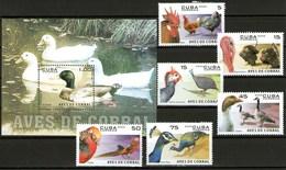 Cuba Francobolli Animali Da Cortile Aves De Corrales - Cuba