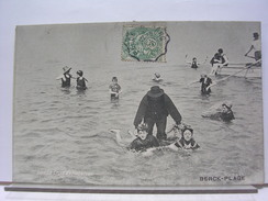 62 - BERCK PLAGE - LA LECON DE NATATION - 1907 - Berck