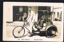 KARACHI- PAKISTAN - Cycle Rickshaw -  Scans Recto Verso - Paypal Sans Frais - Pakistan