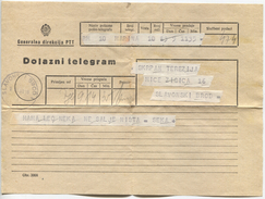 TELEGRAM - Yugoslavia, 1960. Zagreb / Slavonski Brod - 1945-1992 Socialist Federal Republic Of Yugoslavia