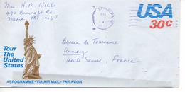 AEROGRAMME ENTIER POSTAL AMERICAIN STATUE DE LA LIBERTE 21 Jun 1982  + Verso      SUPERBE - Monuments