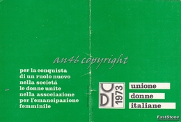 TESSERA_UDI_Unione Donne Italiane_1973-Originale 100% - Pubblicitari