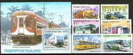 Cuba Francobolli Mezzi Di Trasporto Transporte - Unused Stamps