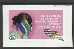 RUGBY - COUPE DU MONDE 2007 - Commemorative Labels