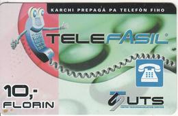 CURACAO - TeleFasil, UTS Prepaid Card 10 Fl, Used