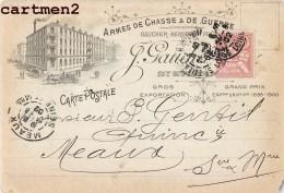 SAINT-ETIENNE MANUFACTURE STEPHANOISE D'ARMES DE CHASSE ET DE GUERRE GAUCHER-BERGERON FRERES PUBLICITE 1900 - Saint Etienne