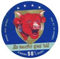 Ancienne Etiquette Fromage La Vache Qui Rit 50%mg  Fromage Fondu Pour Tartines  Dapres Benjamin Rabier - Fromage