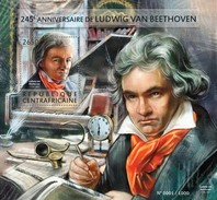 CENTRAFRICAINE 2015 SHEET BEETHOVEN COMPOSERS COMPOSITEURS COMPOSITORES KOMPONISTEN Ca15414b - República Centroafricana
