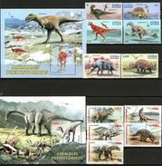 Cuba Francobolli Dinosauri Dinosaurios - Cuba