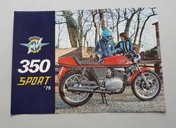 MV Agusta 350 Sport Ipotesi 1975 Depliant Originale - Genuine Brochure - Prospekt - Moto