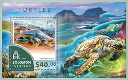 SOLOMON ISLANDS 2015 SHEET TURTLES TORTUES TORTUGAS TARTARUGAS SCHILDKROTEN TARTARUGHE MARINE LIFE REPTILES Slm15404b - Islas Salomón (1978-...)
