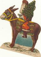 BEAU PERE NOEL  ET SON ANE   //////   REF. AVRIL 17 - Motiv 'Weihnachten'