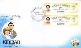 KIRIBATI FIRST DAY COVER 26-11-1981 - ROYAL SILVER WEDDING 1981 - Kiribati (1979-...)