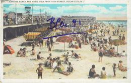 OCEAN CITY BATHING BEACH AND MUSIC PIER 1935 - Ocean City