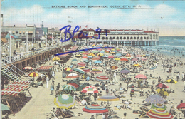 OCEAN CITY BATHING BEACH AND BOARDWALK 1939 - Ocean City
