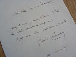 Henri LAVEDAN (1859-1940) Journaliste ACADEMIE FRANCAISE. AUTOGRAPHE à Georges Decaux - Autographs