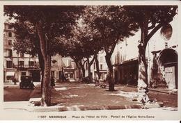 Cpa Manosque  Place De L'hotel De Ville - Manosque