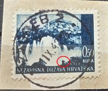 LANDSCAPES-JAJCE-ERROR-KNAPSACK-POSTMARK-ZAGREB-NDH-CROATIA-1941 - Croatia