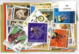 100 Timbres Thème Cyclismes - Radsport
