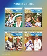 SOLOMON ISLANDS 2015 SHEET PRINCESS DIANA ROYALTY MOTHER TERESA NELSON MANDELA NOBEL PRIZE Slm15516a - Solomon Islands (1978-...)